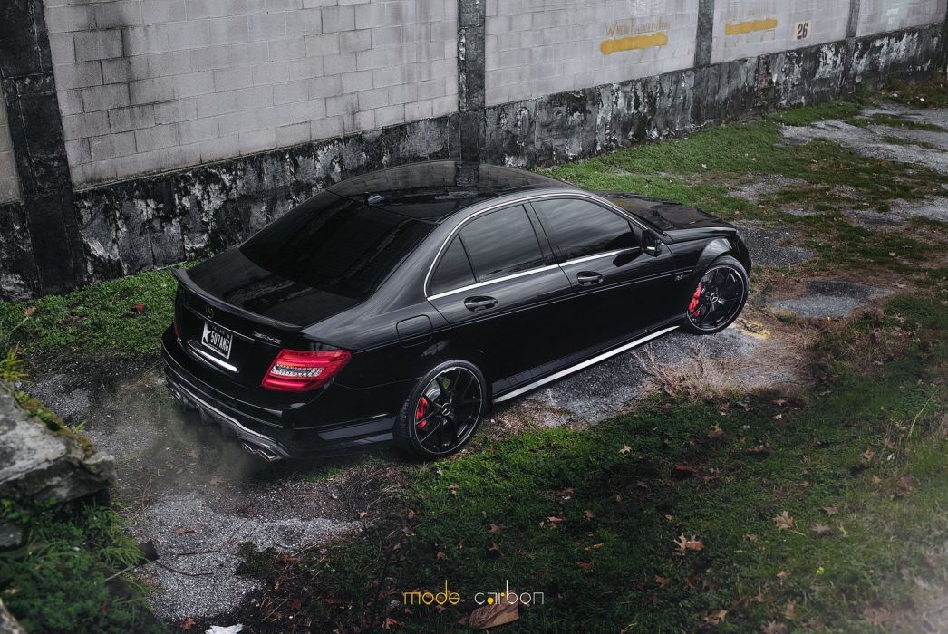 amg black c63 Coupe Mercedes Tuning wallpaper