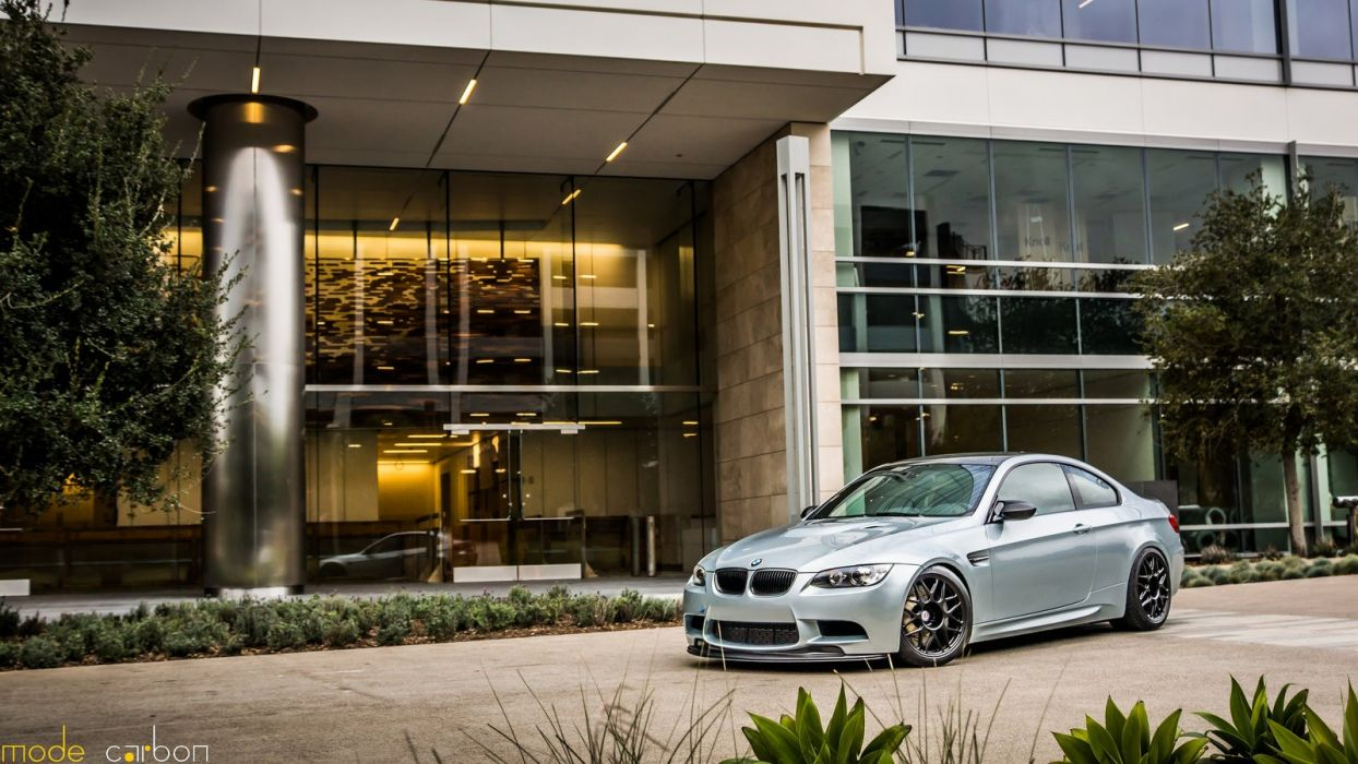 BMW cars e92 grey Tuning m3 wallpaper