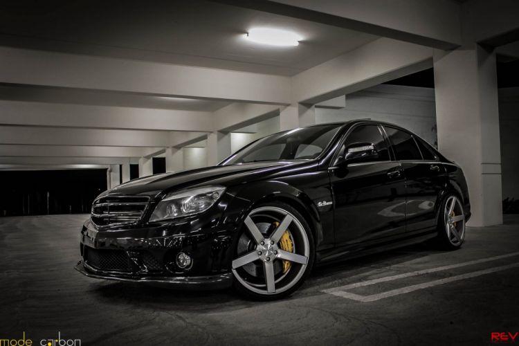 amg black c63 sedan Mercedes Tuning wallpaper