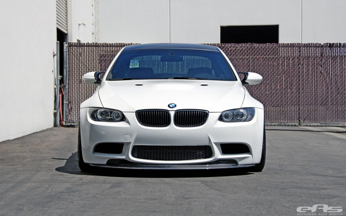 BMW cars e92 white Tuning wallpaper