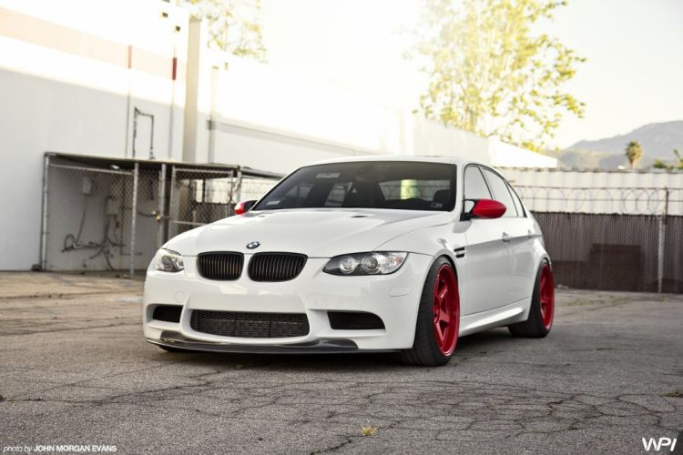 BMW cars e90 white Tuning wallpaper
