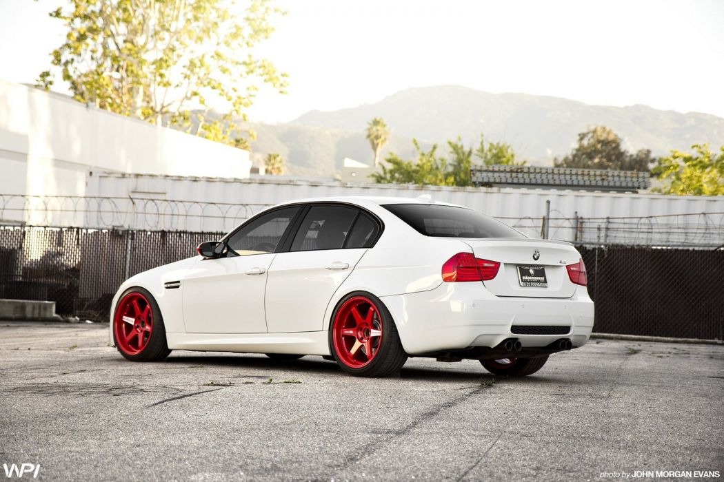 BMW cars e90 white Tuning wallpaper