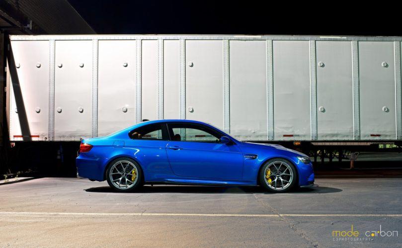 BMW cars e92 Tuning blue wallpaper
