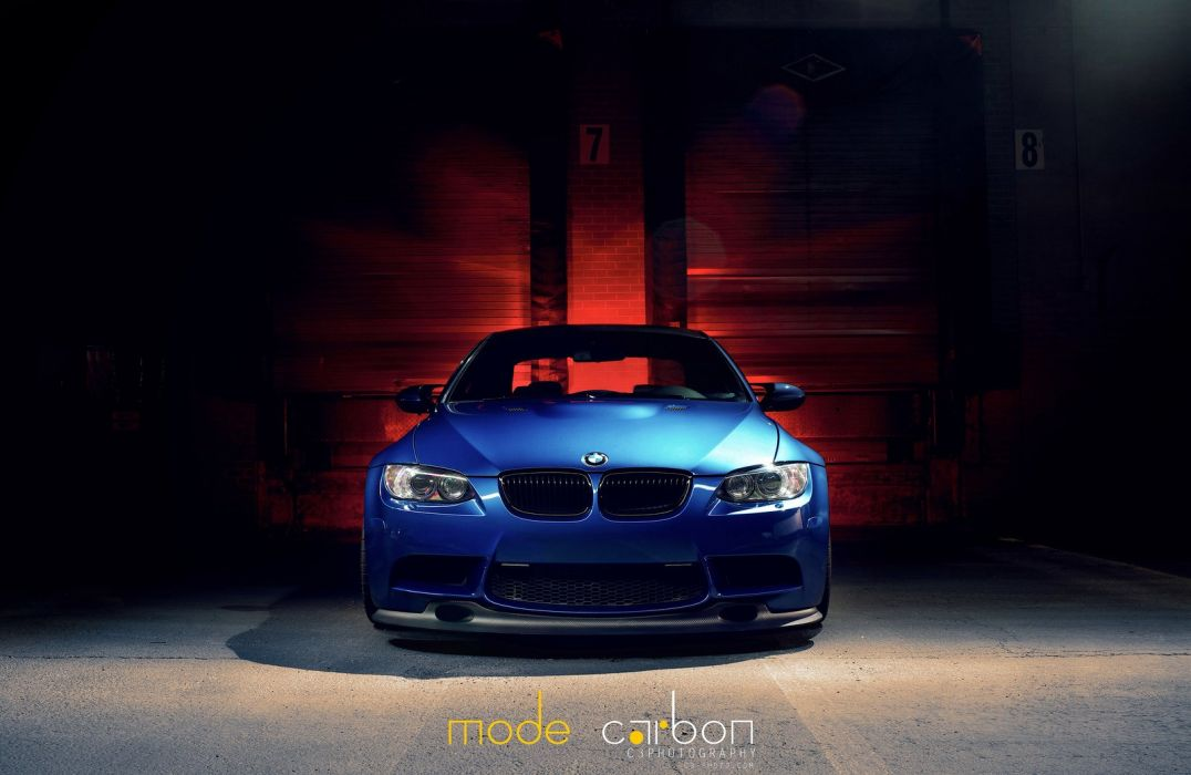 BMW cars e92 Tuning blue wallpaper