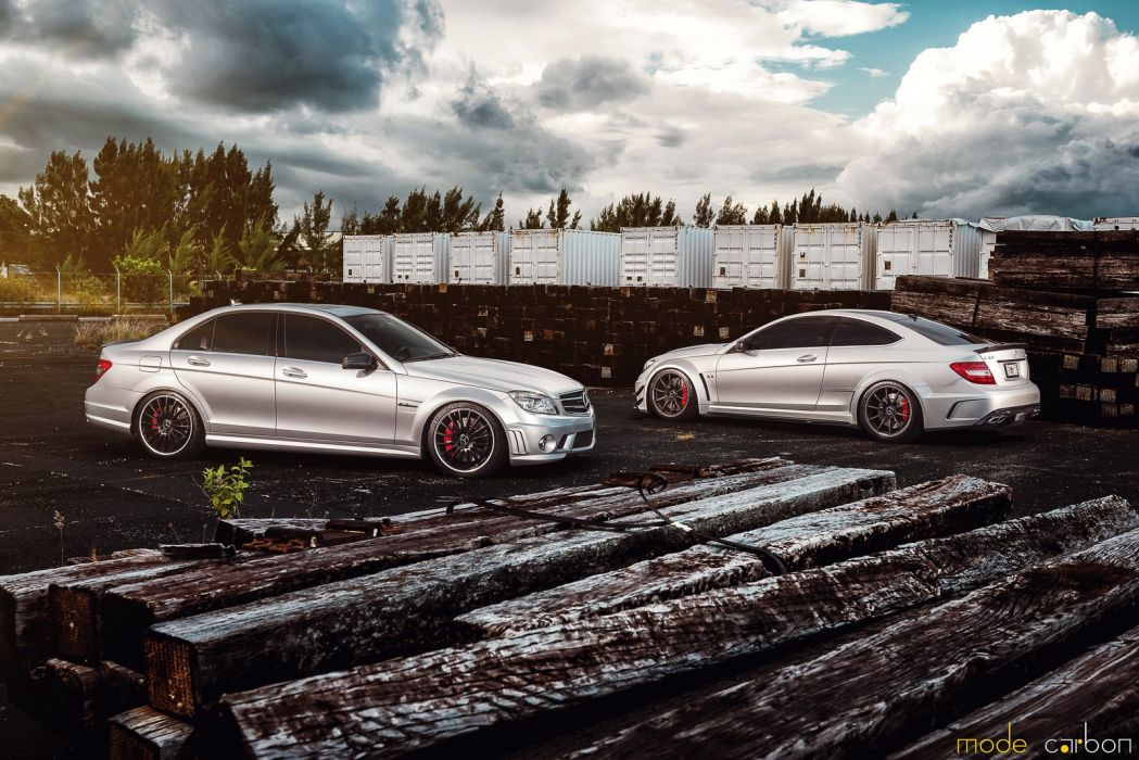 amg c63 Coupe Mercedes Tuning grey wallpaper