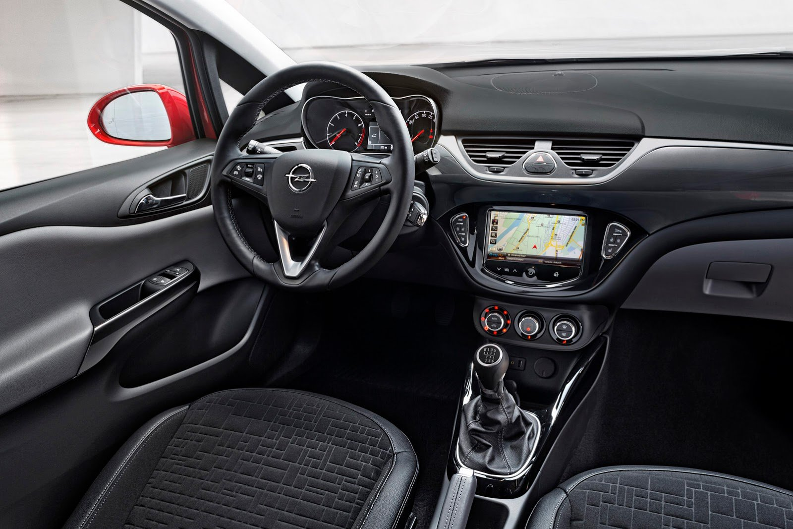 2014 opel corsa red germany cars interior wallpaper for Opel corsa e interieur
