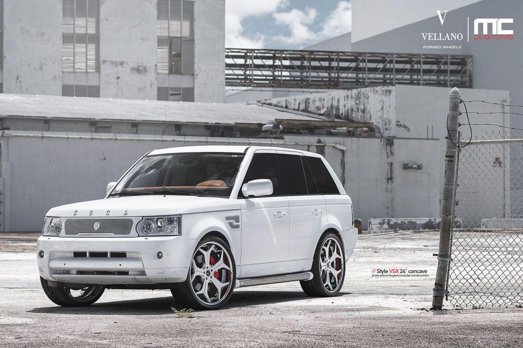 range rover  Vellano wheels tuning cars white wallpaper