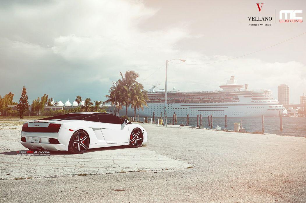 Lamborghini Gallardo Vellano wheels tuning cars white wallpaper