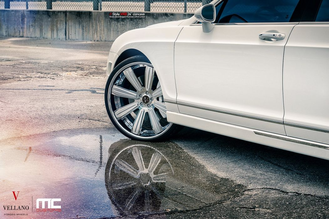 BENTLEY FLYING SPUR Vellano wheels tuning cars white wallpaper