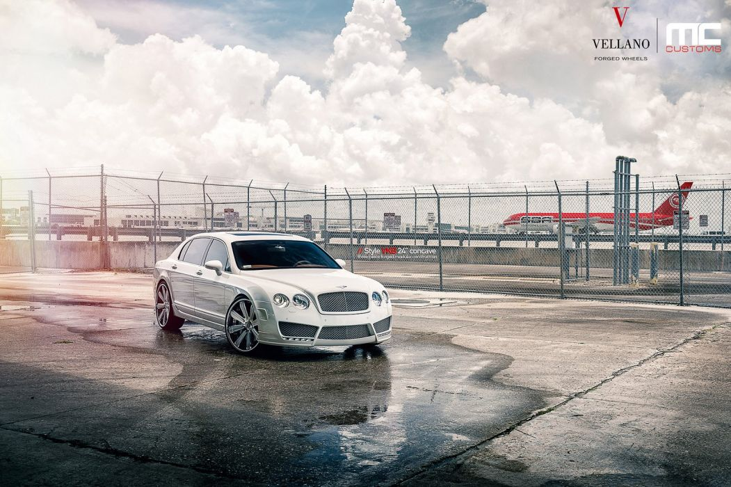BENTLEY FLYING SPUR Vellano wheels tuning cars white wallpaper