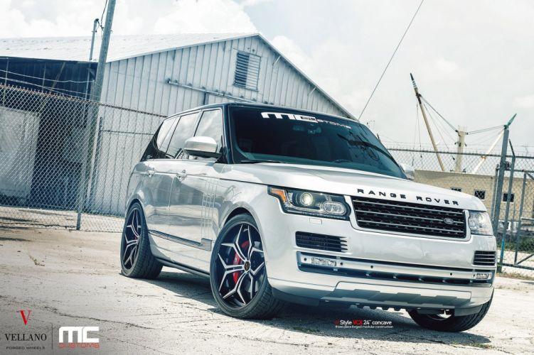 Range Rover Vellano wheels tuning cars grey wallpaper