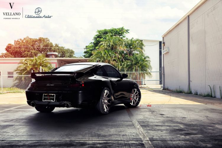 PORSCHE 993 turbo Vellano wheels tuning cars black wallpaper