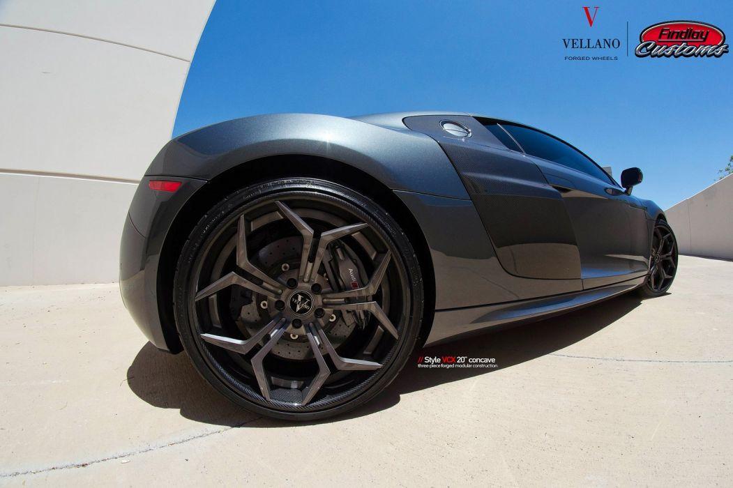 Audi-r8 black cars Tuning vellano wheels wallpaper
