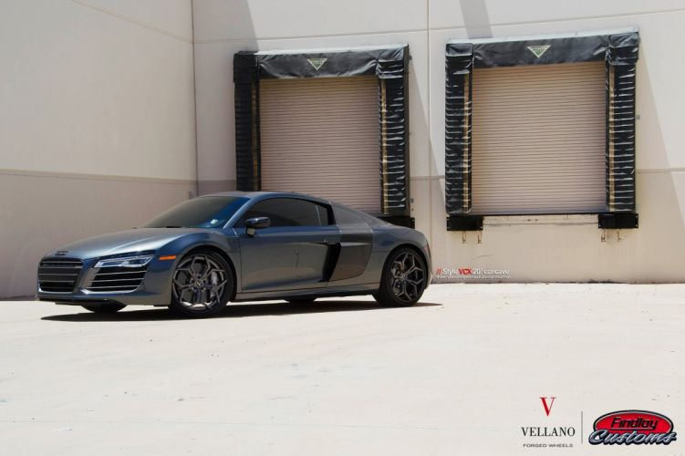 Audi-r8 black cars Tuning vellano wheels wallpaper