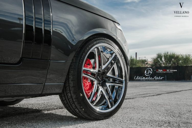 cars black range rover Tuning vellano wheels wallpaper