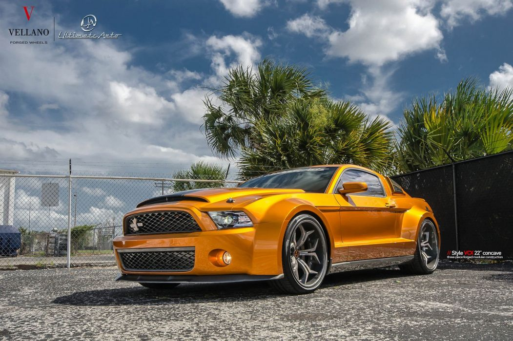 Ford GT500 super-snake Vellano wheels tuning cars wallpaper