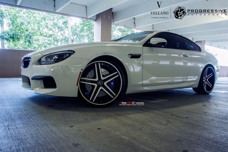 bmw m6 white Vellano wheels tuning cars wallpaper