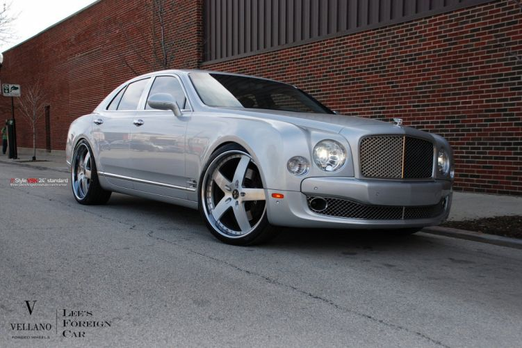 Bentley Mulsanne grey Vellano wheels tuning cars wallpaper