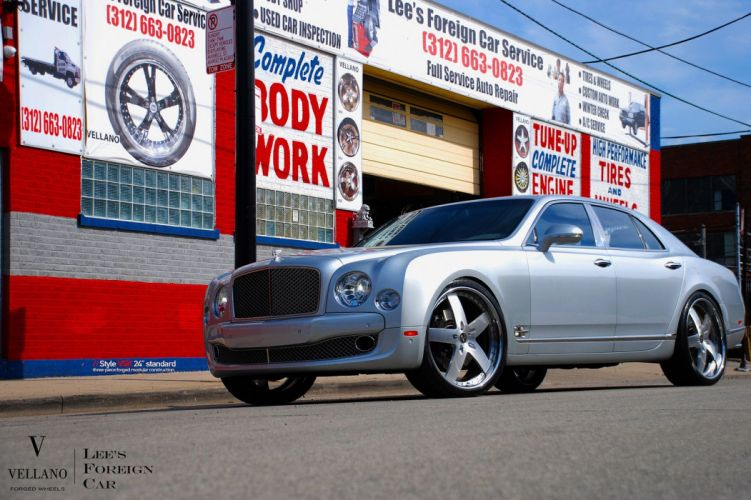 Bentley Mulsanne grey Vellano wheels tuning cars wallpaper