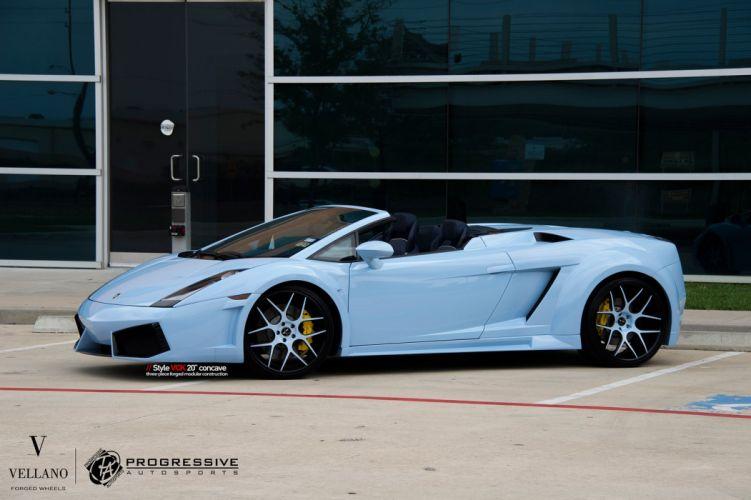 Lamborghini Gallardo blue spider Vellano wheels tuning cars wallpaper
