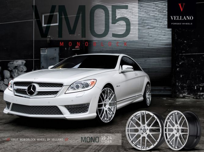 mercedes cl63 amg white Vellano wheels tuning cars wallpaper