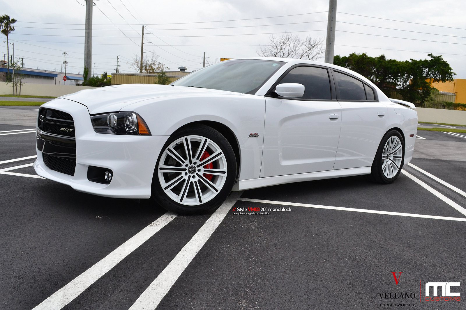 Dodge charger white Vellano wheels tuning cars wallpaper