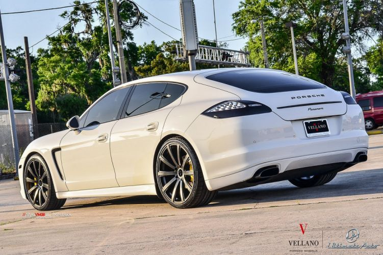 porsche panamera white Vellano wheels tuning cars wallpaper