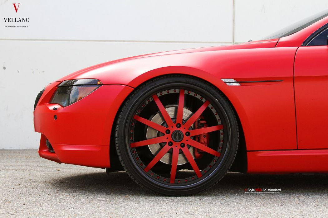 bmw 650 red convertible Vellano wheels tuning cars wallpaper