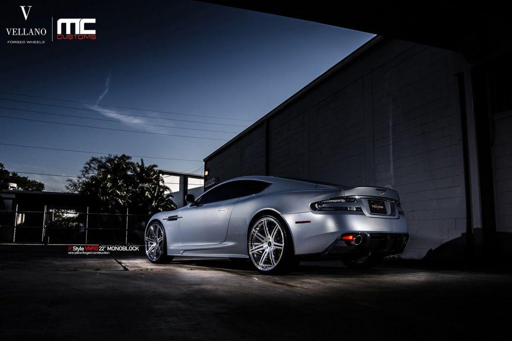 ASTON martin dbs grey Vellano wheels tuning cars wallpaper