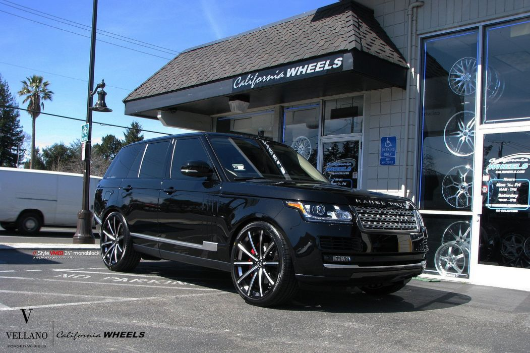 range rover black Vellano wheels tuning cars wallpaper