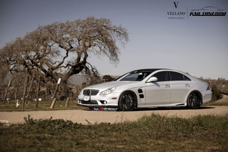 mercedes cls63 amg white Vellano wheels tuning cars wallpaper