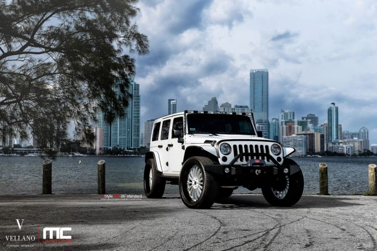 cars jeep Tuning vellano wheels white wrangler wallpaper