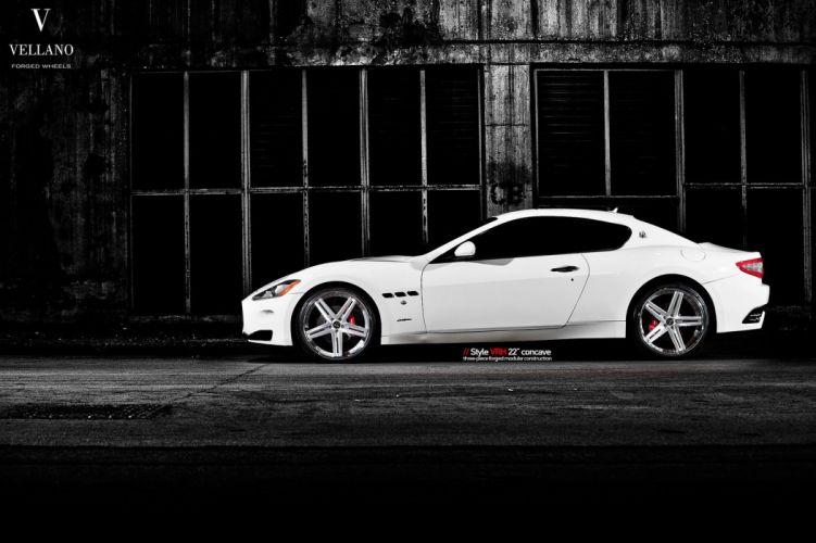 Maserati GranTurismo white Vellano wheels tuning cars wallpaper