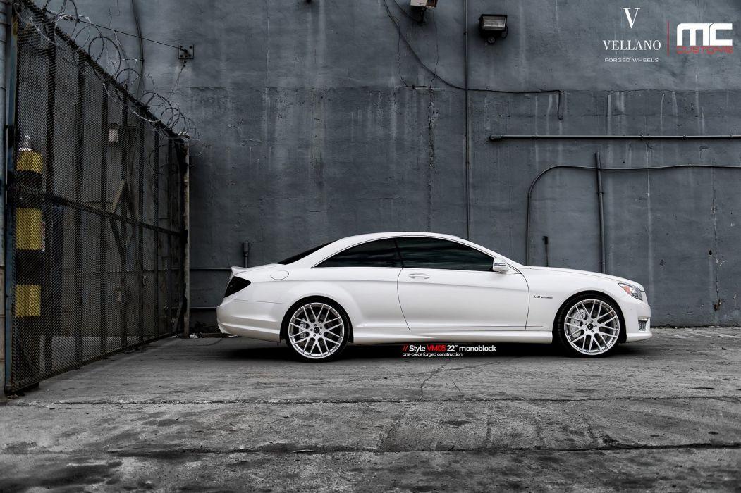 mercedes cl63 amg white Vellano wheels tuning cars wallpaper