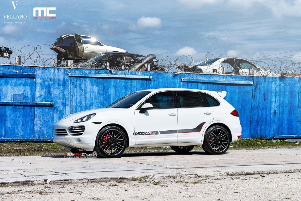 porsche cars cayenne suv Tuning vellano wheels white wallpaper