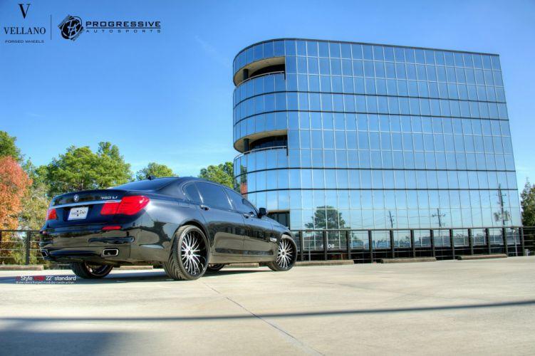 BMW 750LI Vellano wheels tuning cars black wallpaper