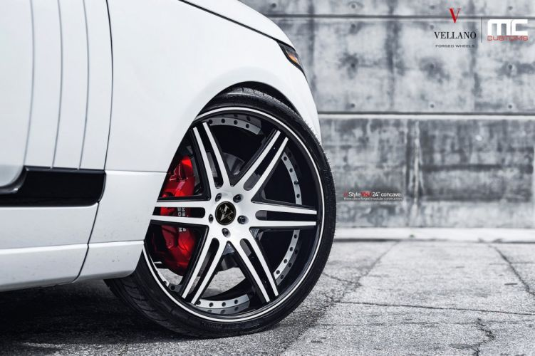 RANGE ROVER white suv Vellano wheels tuning cars wallpaper