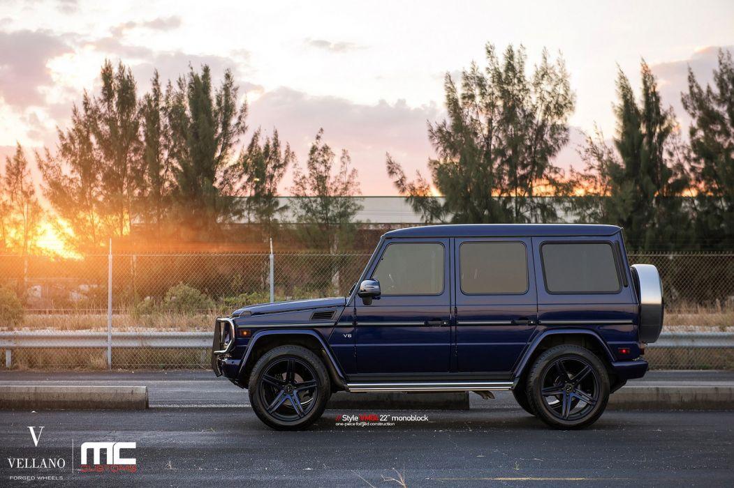 Mercedes G550 blue suv Vellano wheels tuning cars wallpaper