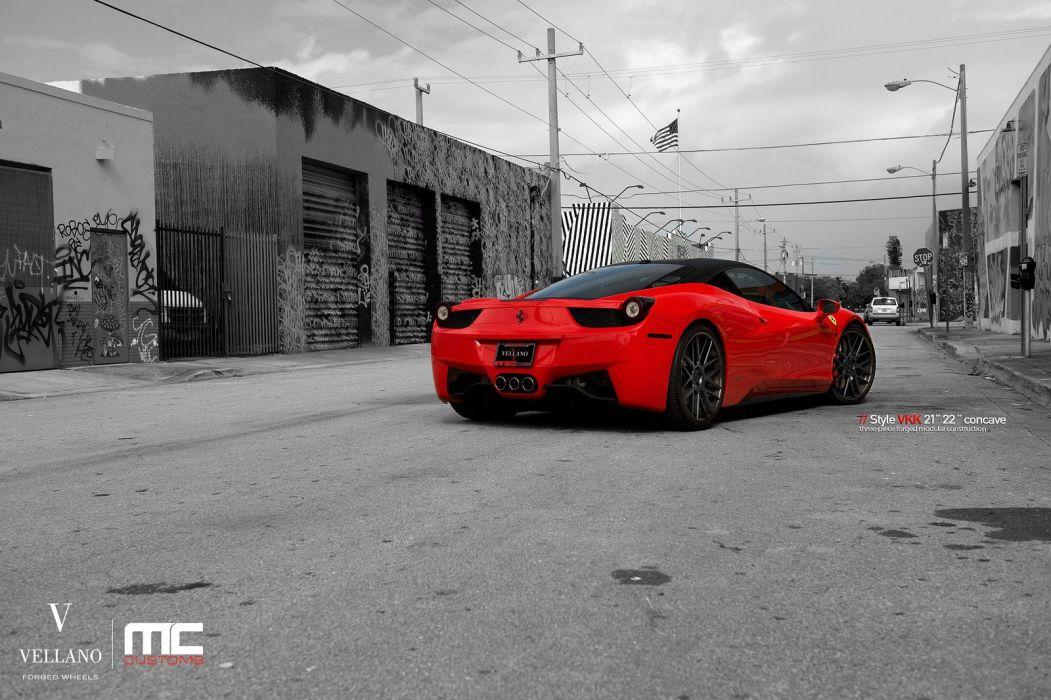 ferrari 458 italia red Vellano wheels tuning cars wallpaper