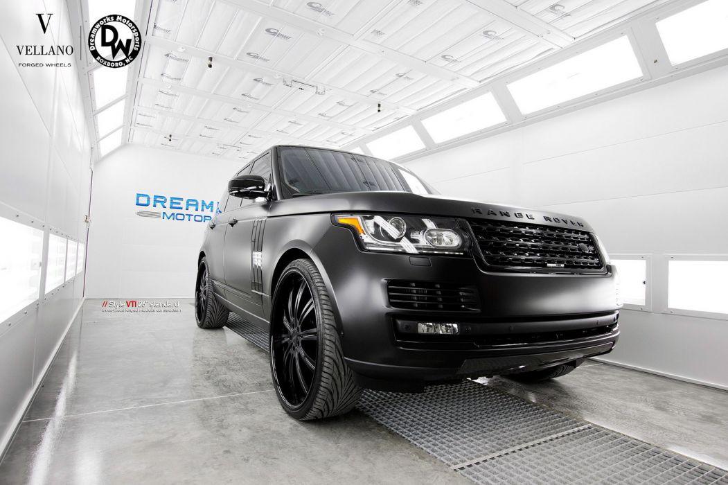 Range Rover HSE black suv Vellano wheels tuning cars wallpaper