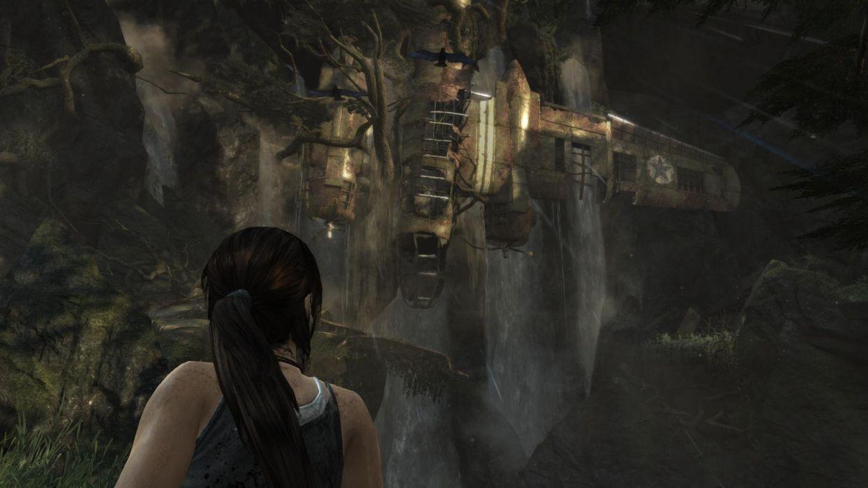 Tomb Raider Lara Croft Plane wallpaper