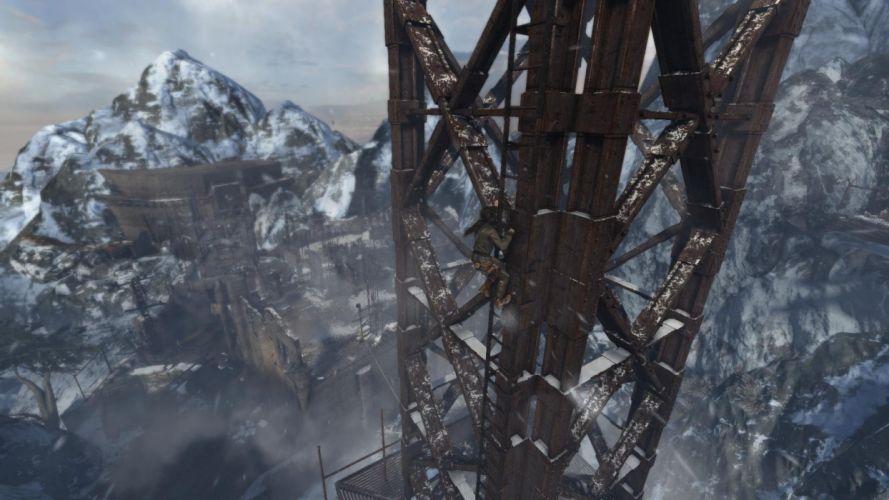 Tomb Raider Lara Croft Mountains Snow Cold wallpaper