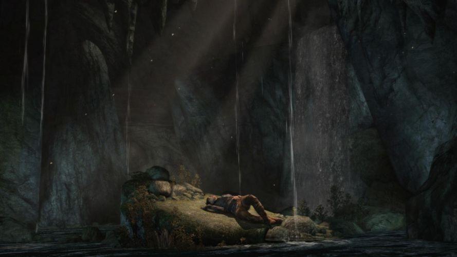 Tomb Raider Lara Croft Cave wallpaper