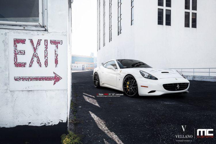 Ferrari california white Vellano wheels tuning cars wallpaper