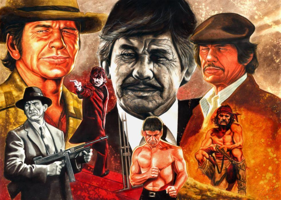 Charles Bronson all main movies wallpaper
