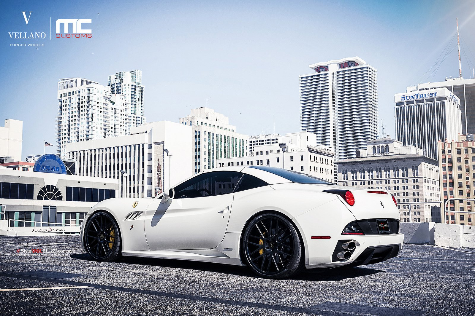21x9 Wallpapers 71 Images: Ferrari California White Vellano Wheels Tuning Cars