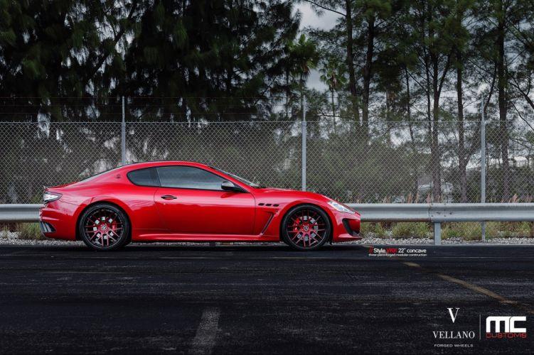 maserati granturismo red Vellano wheels tuning supercars wallpaper