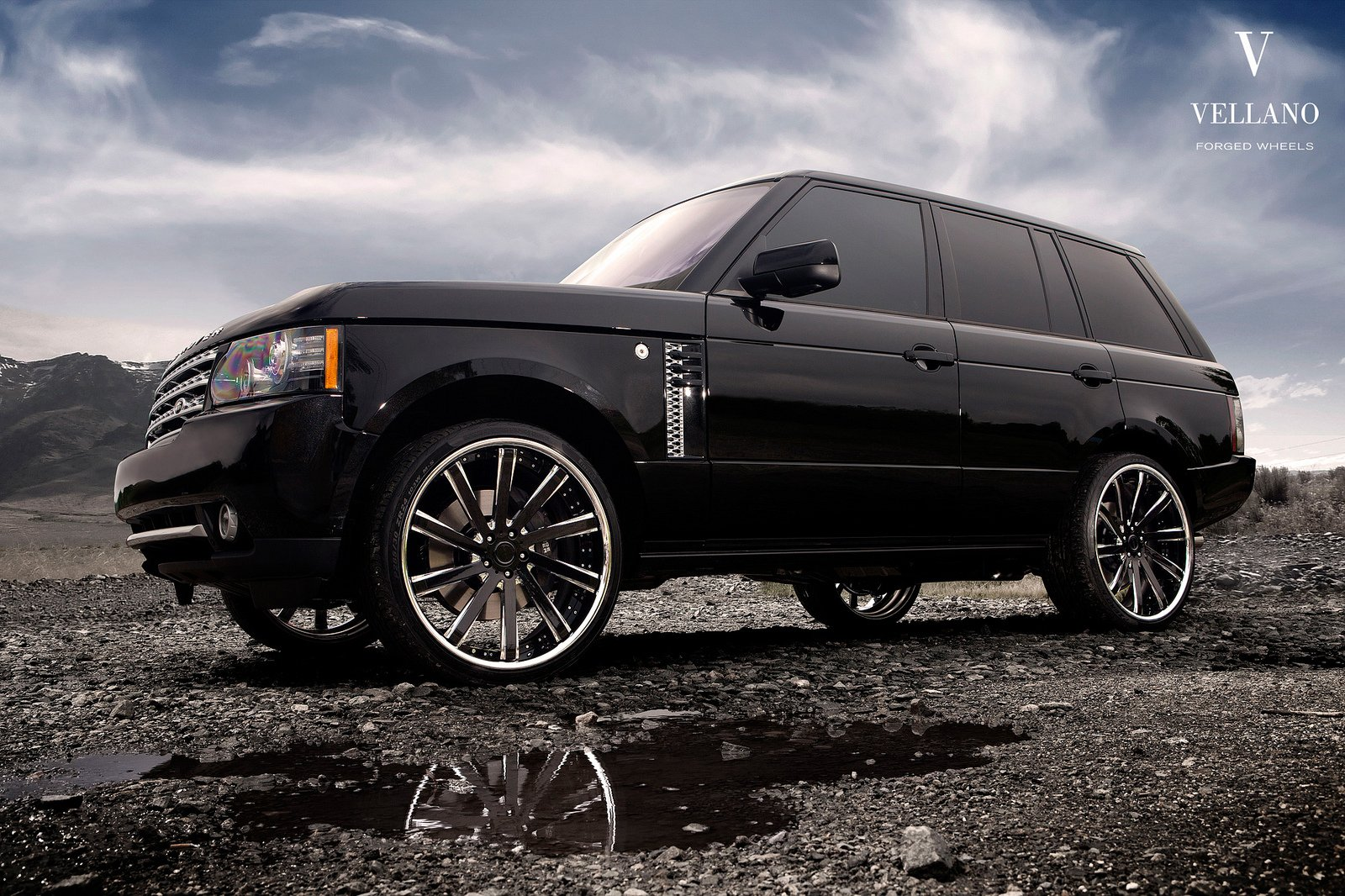 range rover hse black vellano wheels tuning cars wallpaper. Black Bedroom Furniture Sets. Home Design Ideas