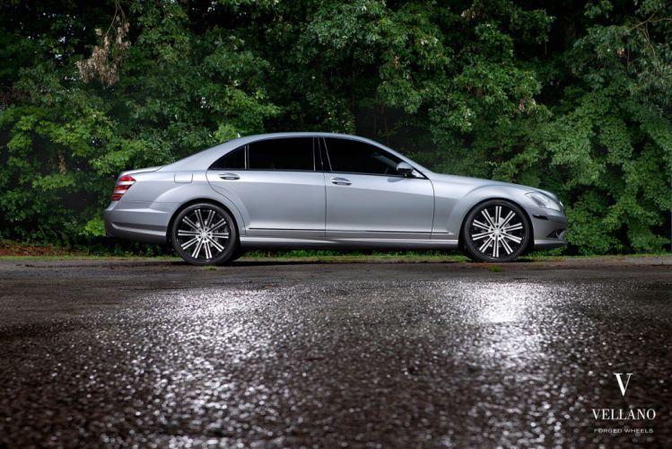 Mercedes s550 grey Vellano wheels tuning cars wallpaper