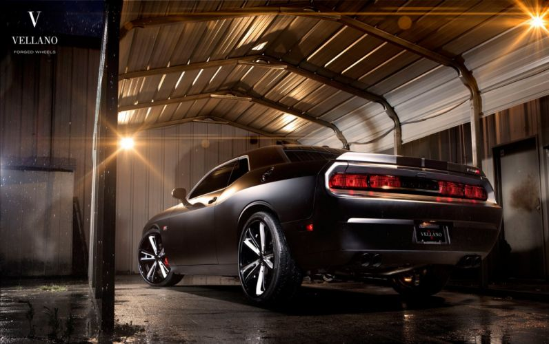 cars challenger Dodge supercharger black Tuning vellano wheels wallpaper